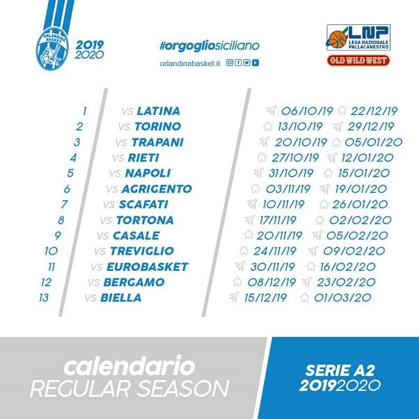 Calendario Serie A2 Basket.Basket Serie A2 Pubblicato Il Calendario Orlandina